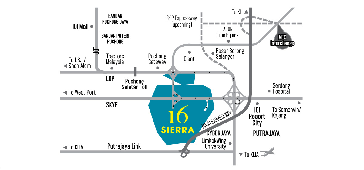 Location Map of 16 Sierra