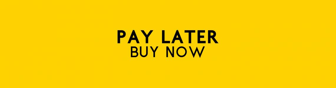 Pay later buy now long banner