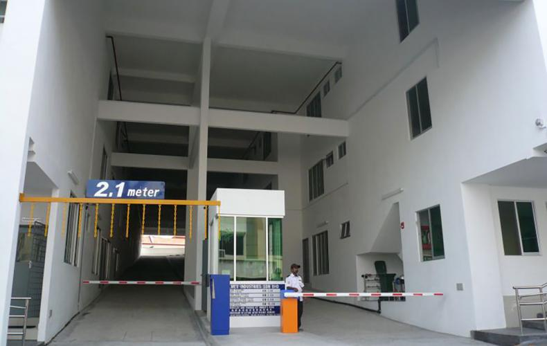 Car Park Entrance with ticket booth